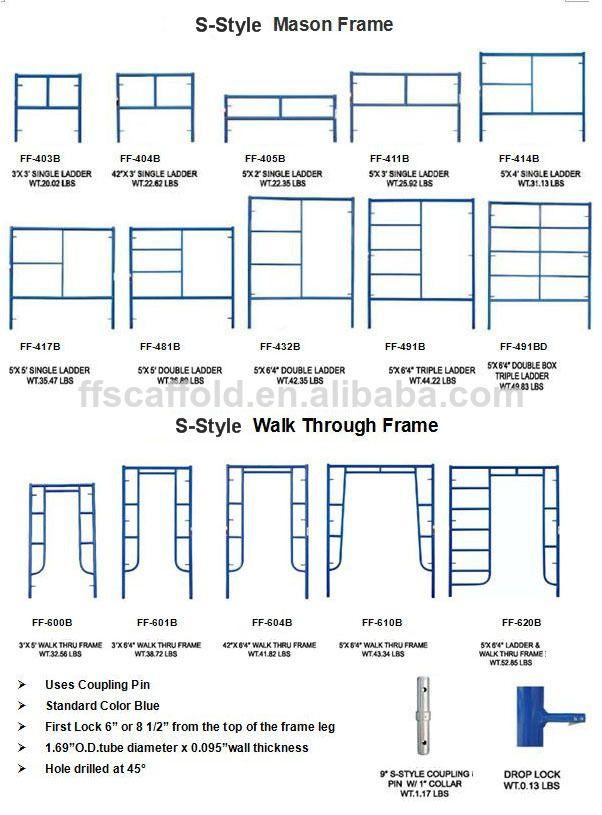 2d419ed385c Scaffolding Ladder frames mason style