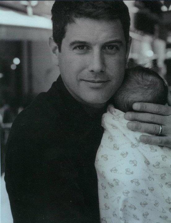 Sebastien Izambard and baby