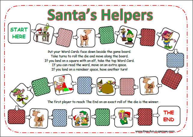 image about Free Printable Reading Games titled Clean Xmas Sight Words and phrases printable examining online games for
