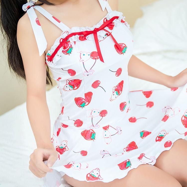 bc95bf2f176db Cute Strawberry Swimsuit (swim suit) Dress SD00513