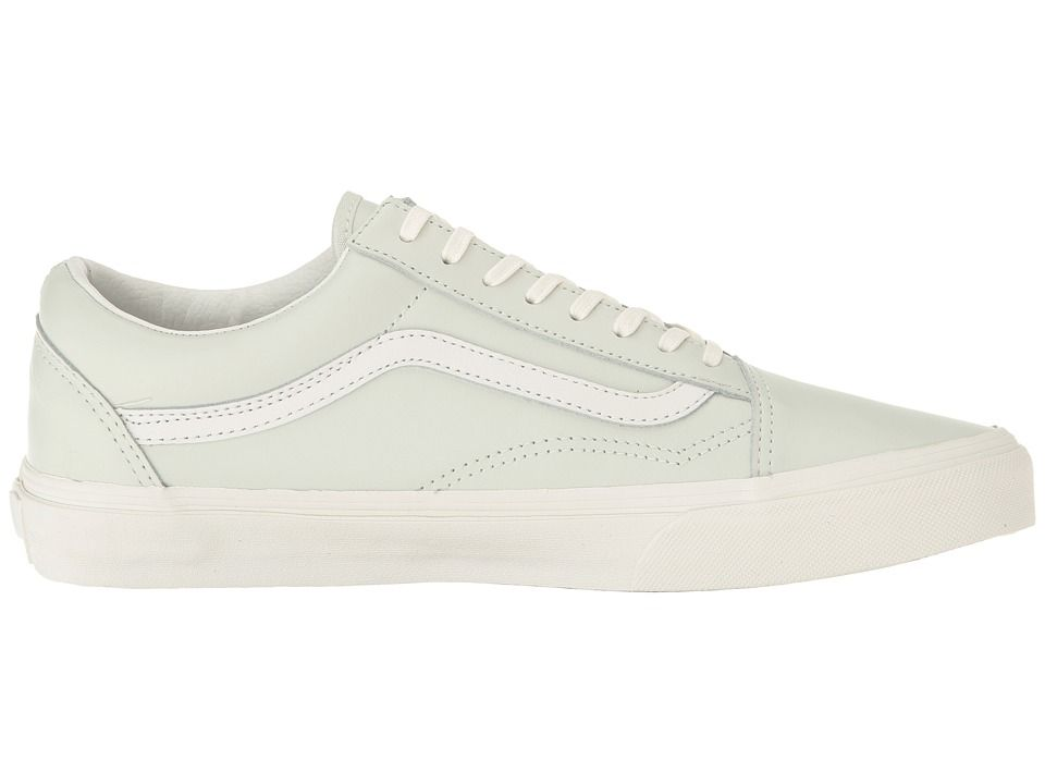 Vans Old Skool Zip Lace up casual Shoes (Leather) Zephyr Blue/Blanc De