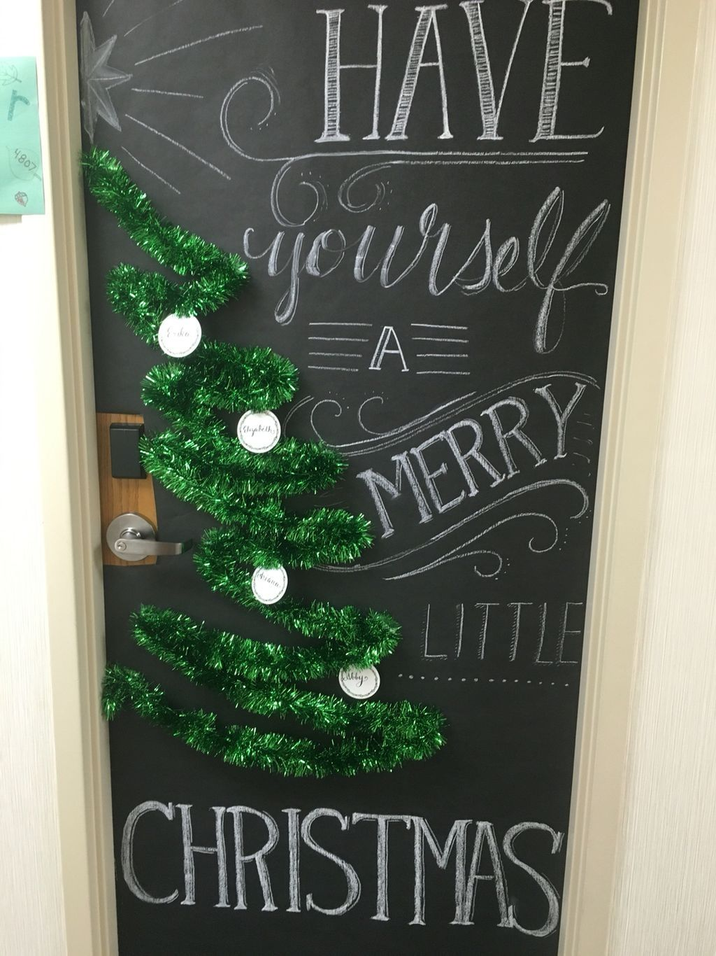 88 Joyful and Fun Christmas Decoration Ideas for Kids Room Kids - Halloween Office Door Decorating Contest Ideas