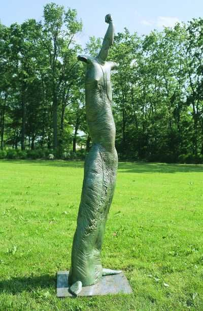 Bronze garden or yard outside and outdoor artwork by sculptor vahan bego