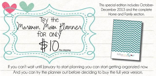 Lds Planners For Moms    Month Planner To Try Out Or Keep