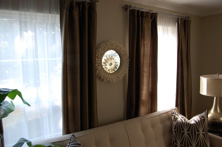 Curtains Ideas beige and brown curtains : 1000+ images about living room on Pinterest | Family room curtains ...