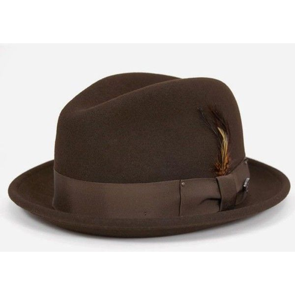 28eb1995 Bailey Hats Bailey Tino Felt Crushable Trilby Hat - Brown ($84) ❤ liked on  Polyvore