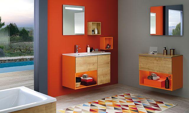 Meuble de salle de bains Liberty Fantasy de Sanijura 1 Orange
