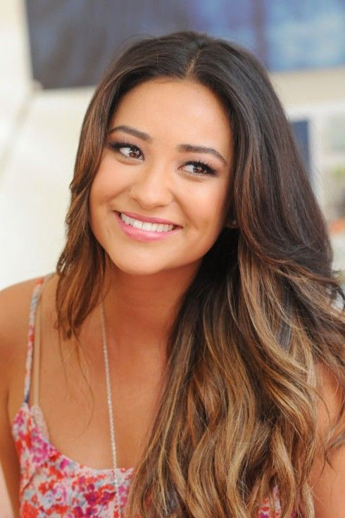 Shay Mitchell hairstyle - 2014 long ombre hairstyle...I like the color