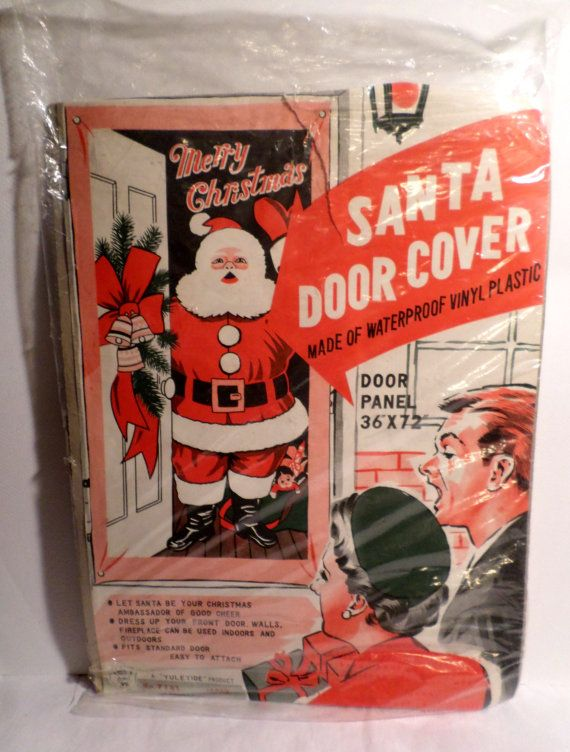 Vintage 1950s Santa Claus Door Cover Christmas by DeliciasCastle & Vintage 1950s Santa Claus Door Cover Christmas by DeliciasCastle ...