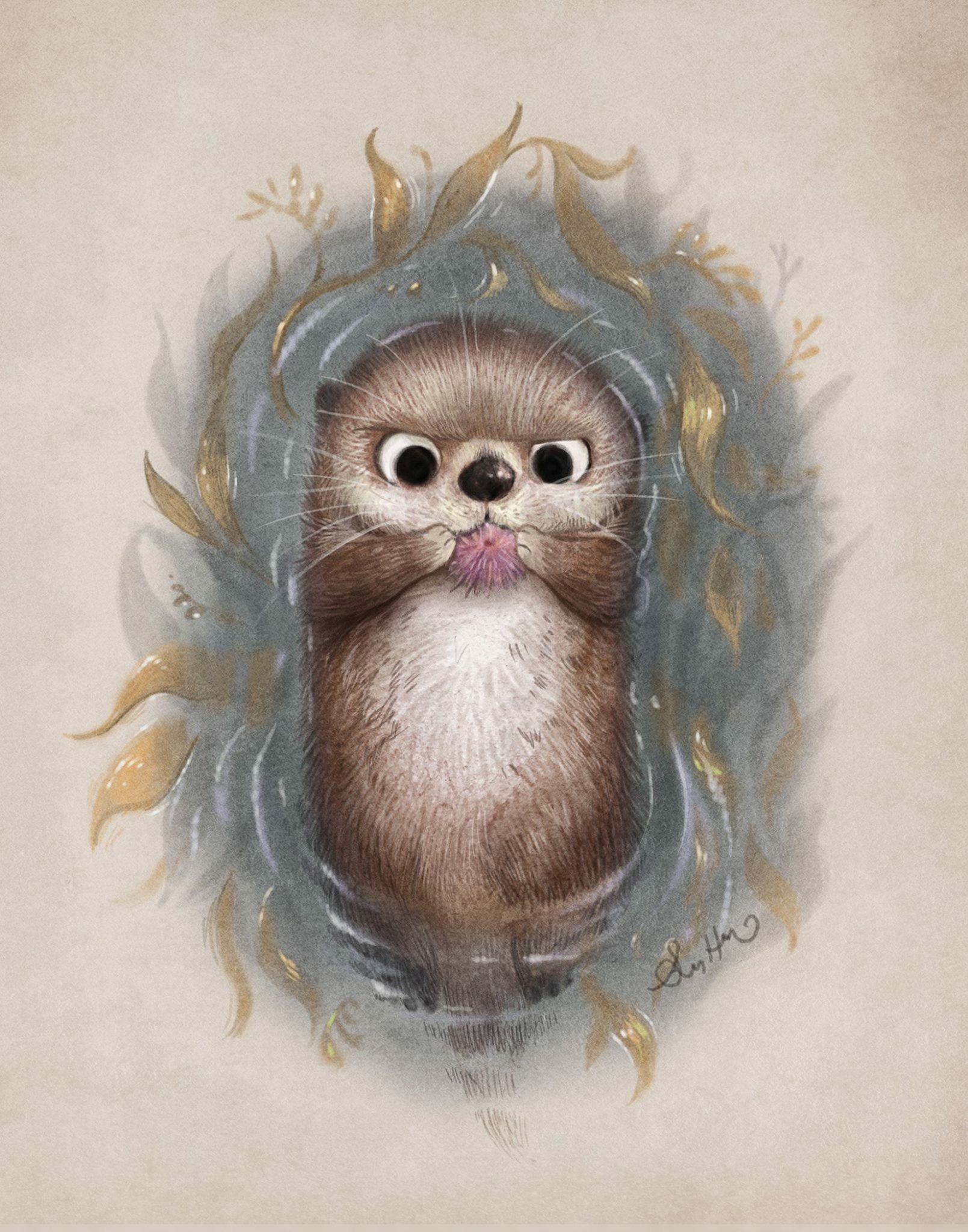 Открытка своими, смешное животное рисунок