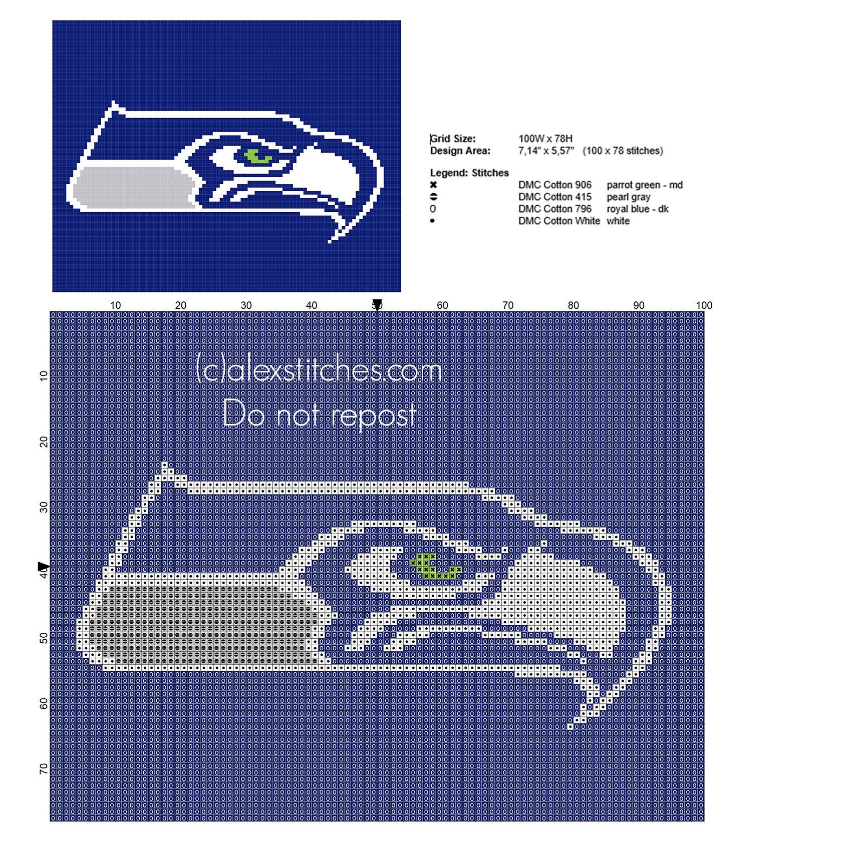 Seattle Seahawks NFL National Football League team logo free ...