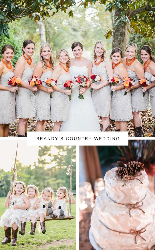 Our Favorite Country Wedding Bridesmaid Dresses