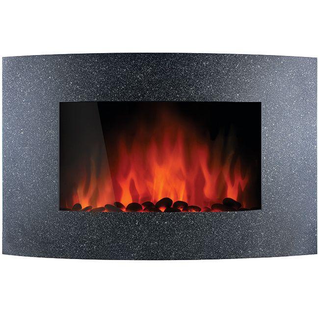 Chemin e d corative chauffante galets dim 90x17 5x56 cm garantie 1 an prix chez - Cheminee decorative chauffante ...