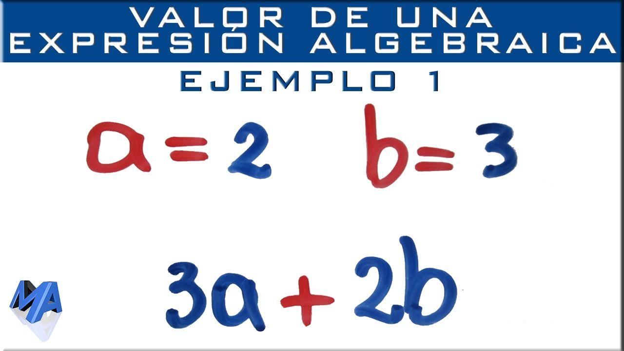 Valor Numérico De Expresiones Algebraicas Ejemplo 1 Expresiones Algebraicas Funciones Matematicas Matematicas Universitarias