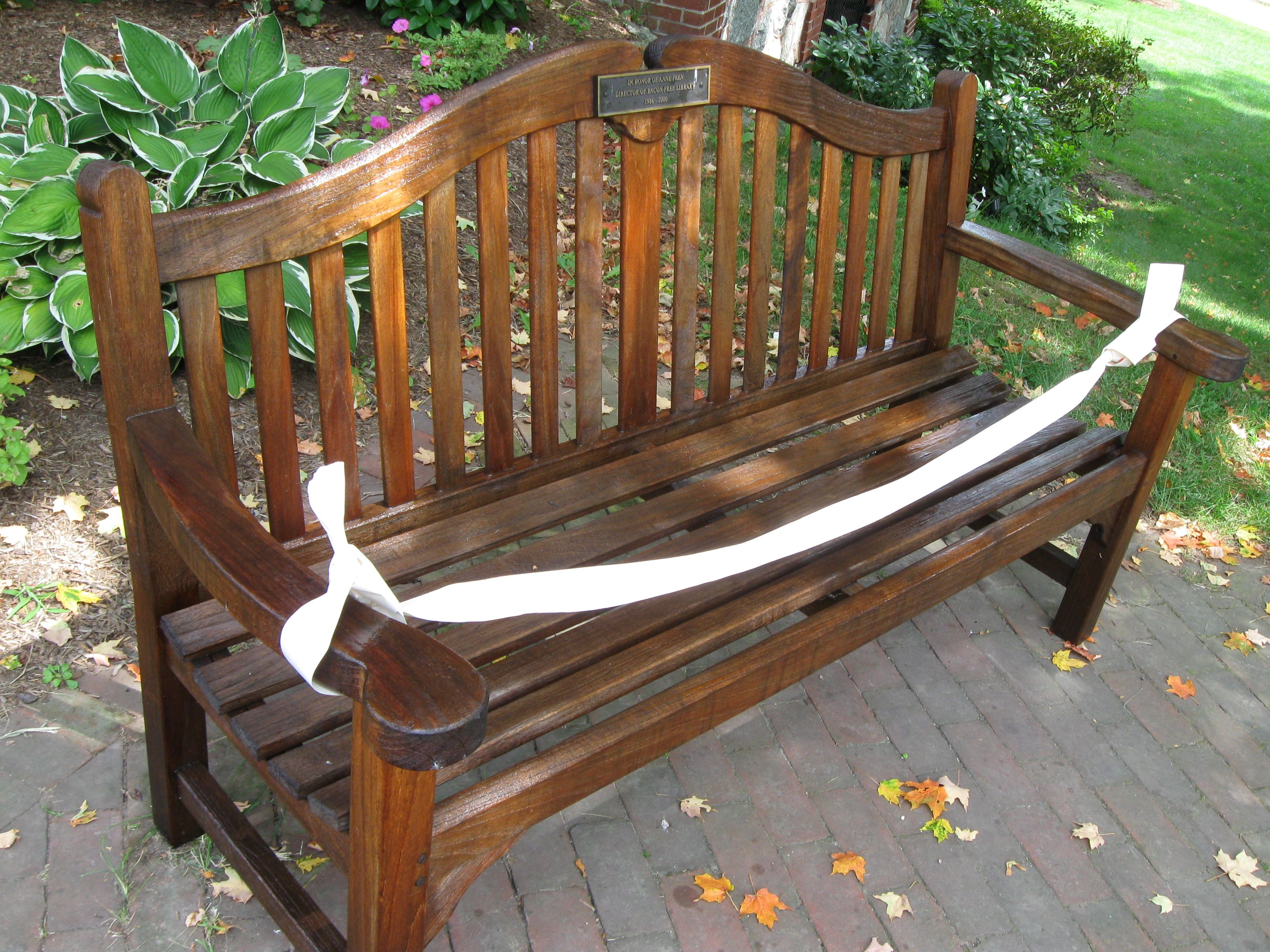 A New Coat Of Stain For Bacon Free Library S Exterior Benches