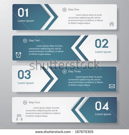 Design clean number banners template graphic or website layout - website proposal template