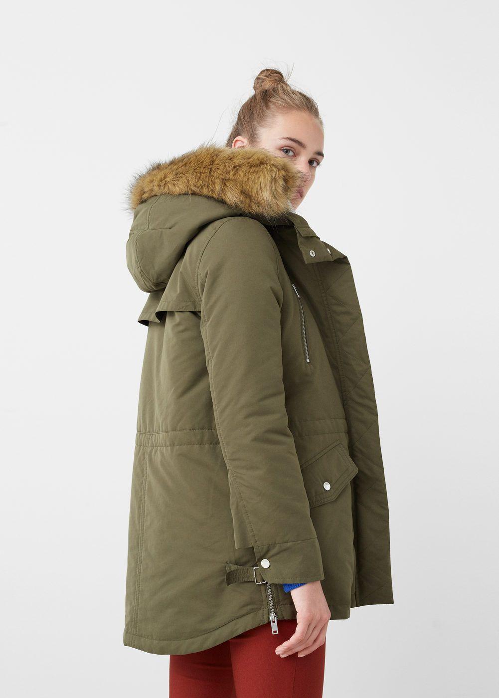 Winterjas Bont Dames.Gewatteerde Jas Met Bont Dames Hannah Coat Faux Fur En Winter