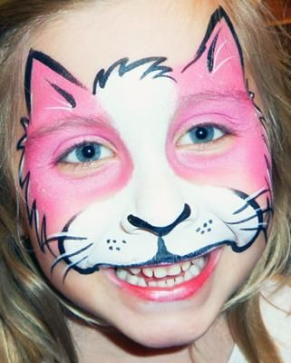 Kitty Cat Face Paint : kitty, paint, Kitty, Paint,, Painting,, Painting, Halloween
