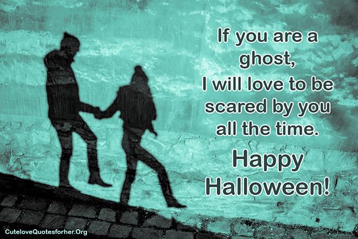Scary Halloween Love Quote To Flirt Romance