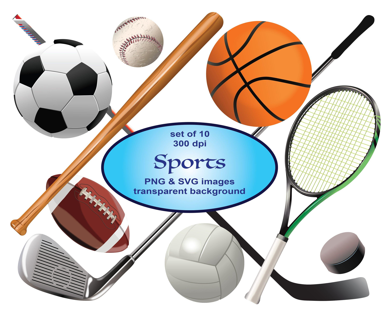 Sports Clip Art Sport Clipart Svg Clipart Football Clipart Etsy Sports Clips Sports Clip Art