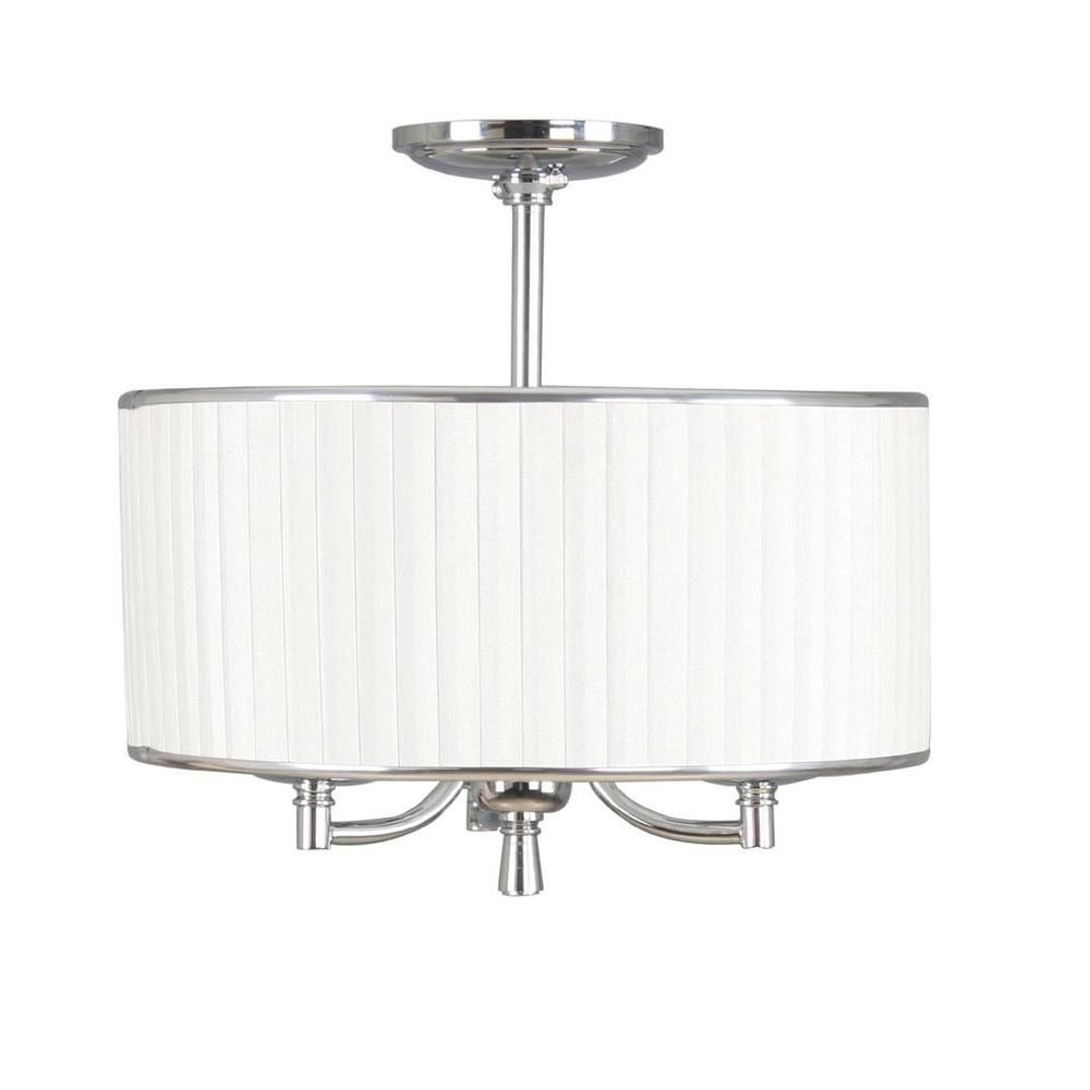 Home Decorators Collection Anya 15 in. 3-Light Chrome Semi ...