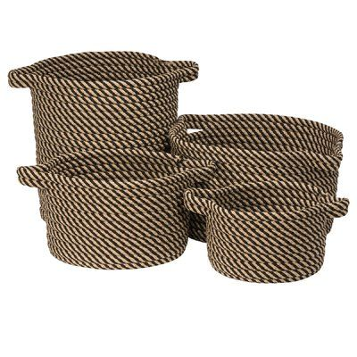 Longshore Tides Polypropylene Basket Set Color Denim Size 10 X 10 X 7 Basket Sets Colonial Mills Longshore Tides