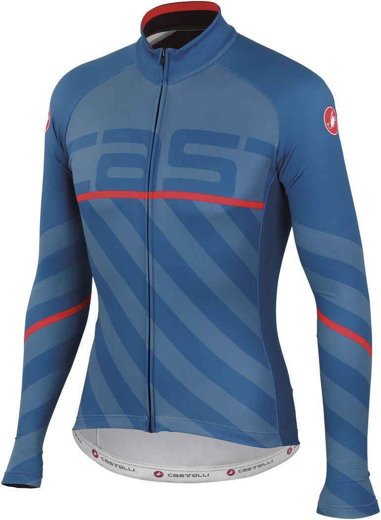 a54df0413 Castelli Vertigo Jersey LS Moonlight Blue