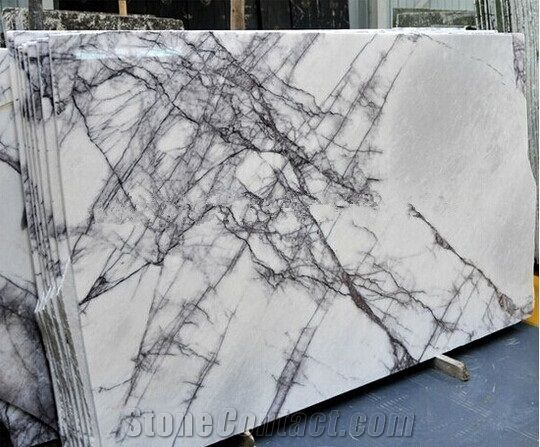 Polished White Milas Lilac Marble Tiles Milas New York White Marble Slabs Tiles Top Star Stone Company Limited Marble Slab White Marble Marble Tiles