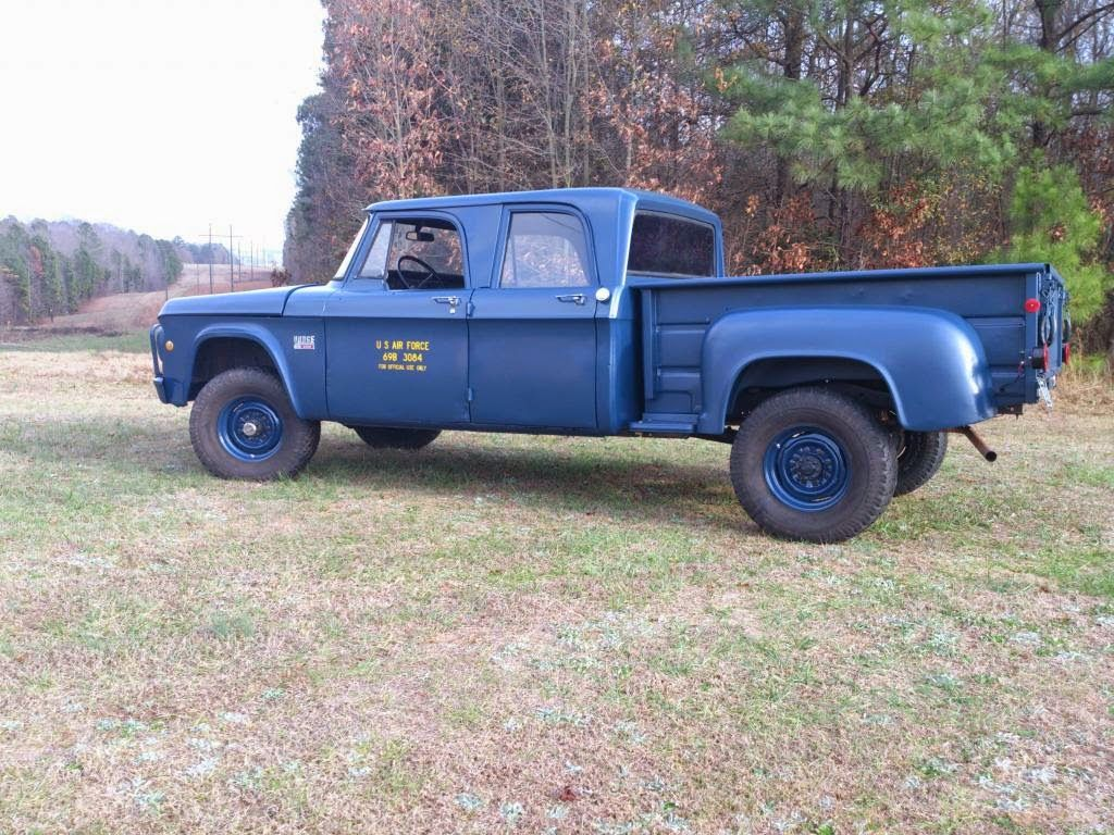 Usaf 1969 Dodge W 200 3 4 Ton Crew Cab 4x4 Pickup Powered By A 225 Power Wagon For Sale Cubic Inch Pt225t Inline 6 Cylinder Gasoline Engine