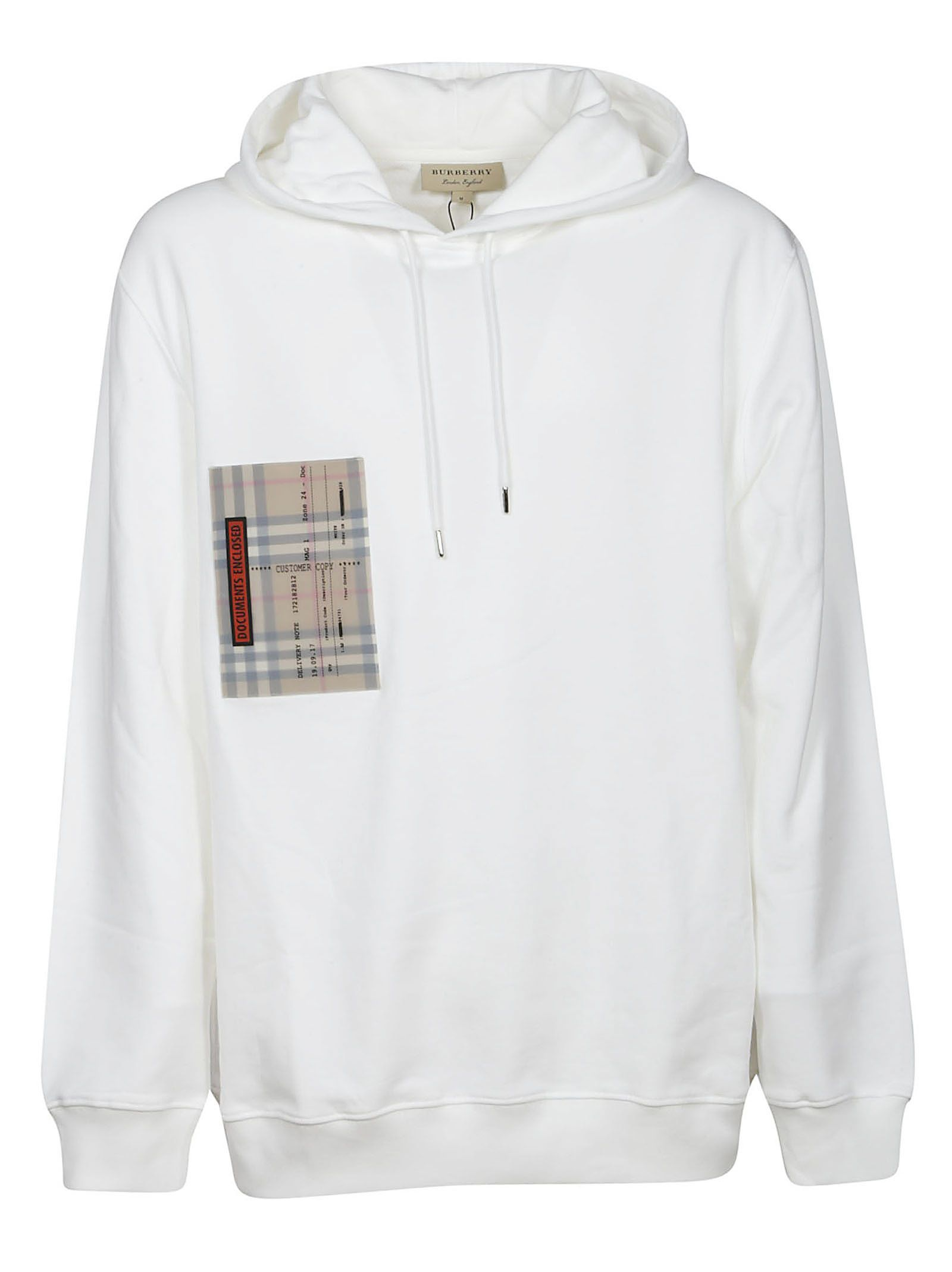 Burberry Check Pocket Hoodie In White Modesens Pocket Hoodie Hoodies Burberry [ 2136 x 1600 Pixel ]