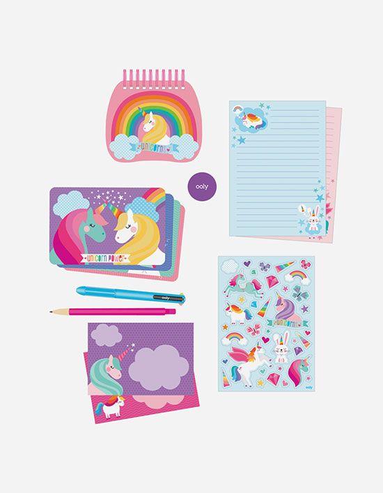 Unicorn Stationery Kit Hello Kitty Makeup Unicorn