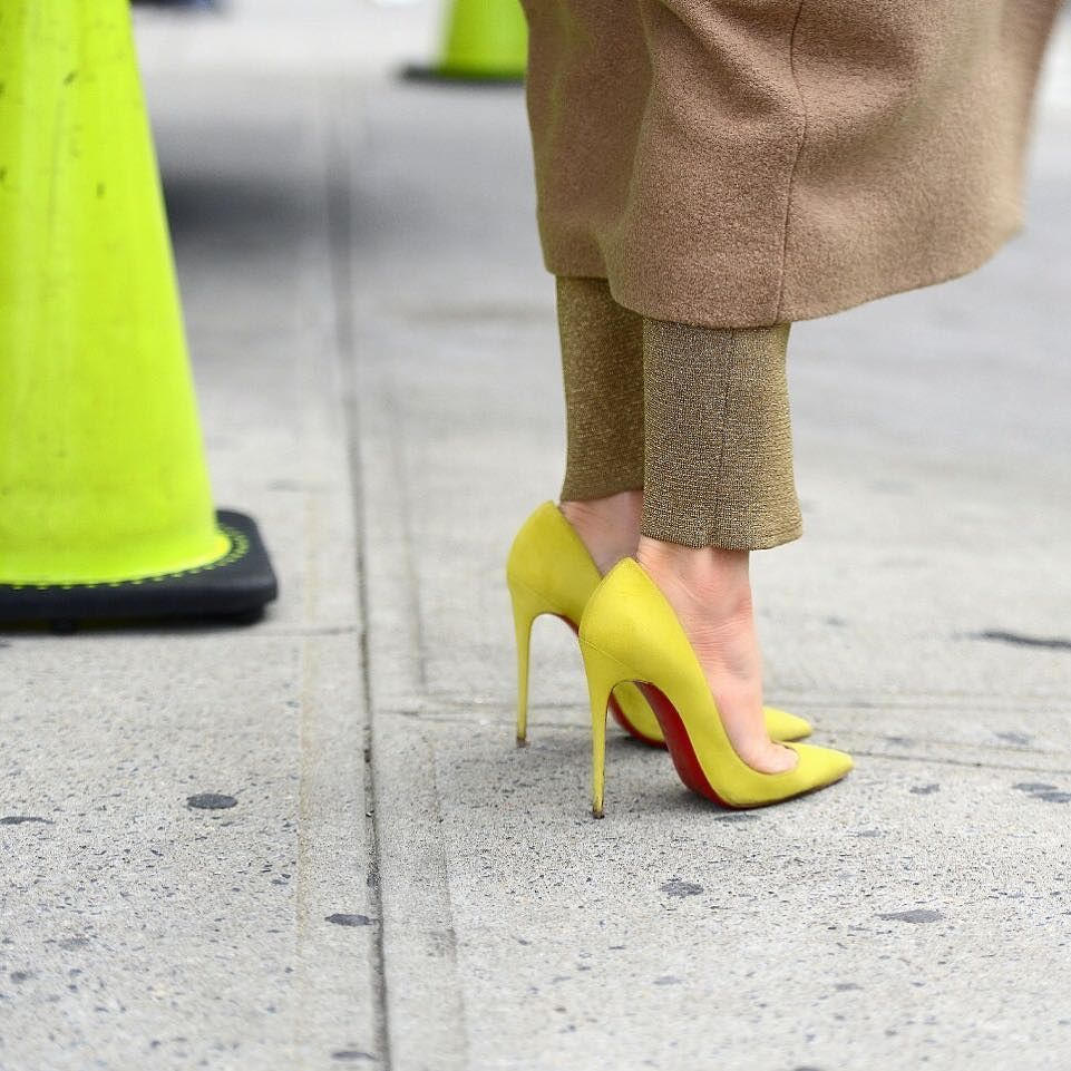 So electric. So Kate. Click the link in bio to shop. Photo by @thestreetmuse. #NMshoelove #christianlouboutin