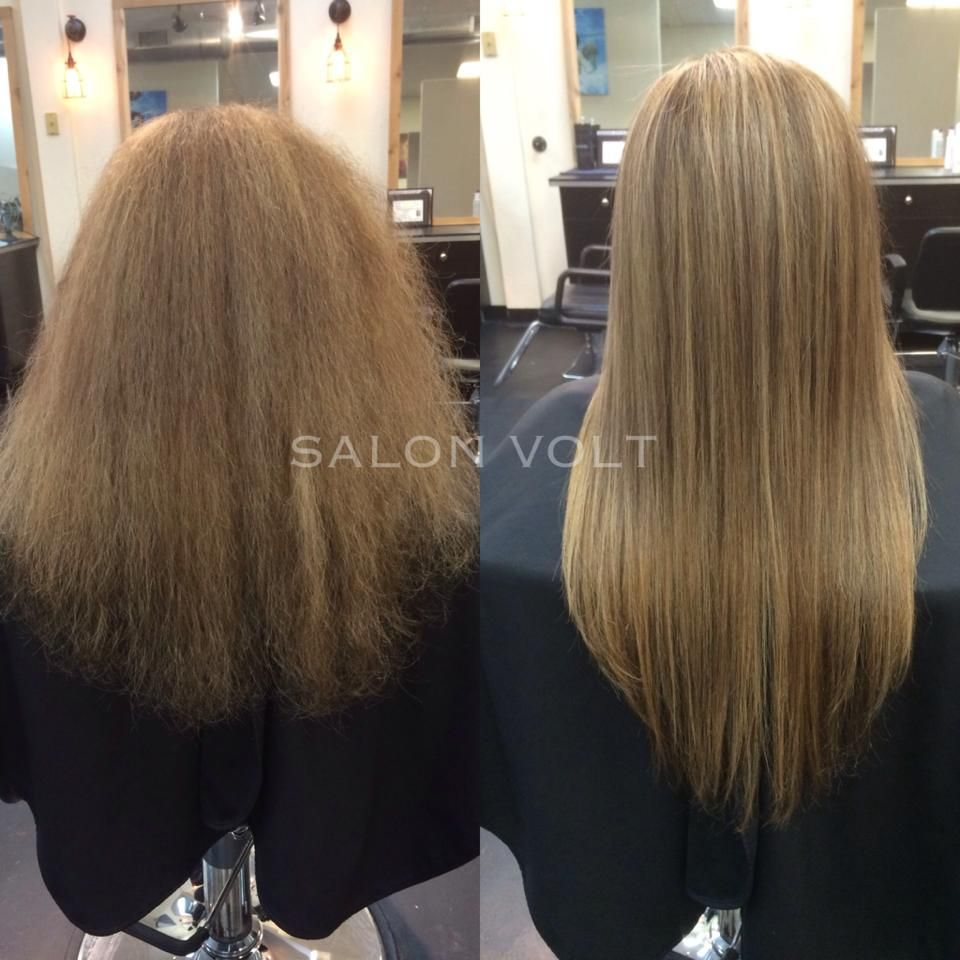 Brazilian Blowout Smoothing Treatment Curly Hair To Straight Hair Straight Hairstyles Curly Hair Styles Hair