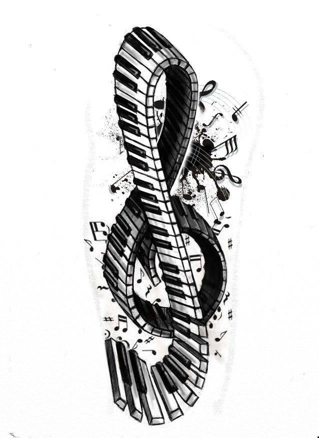 f71ed58272cb7 Tattoo+series+-+Violin/piano+key+by+StereoiD.deviantart.com+on+@deviantART