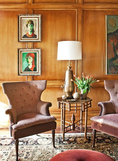 Wood Paneled Library: L.A. House: 'A Designer's Dream'