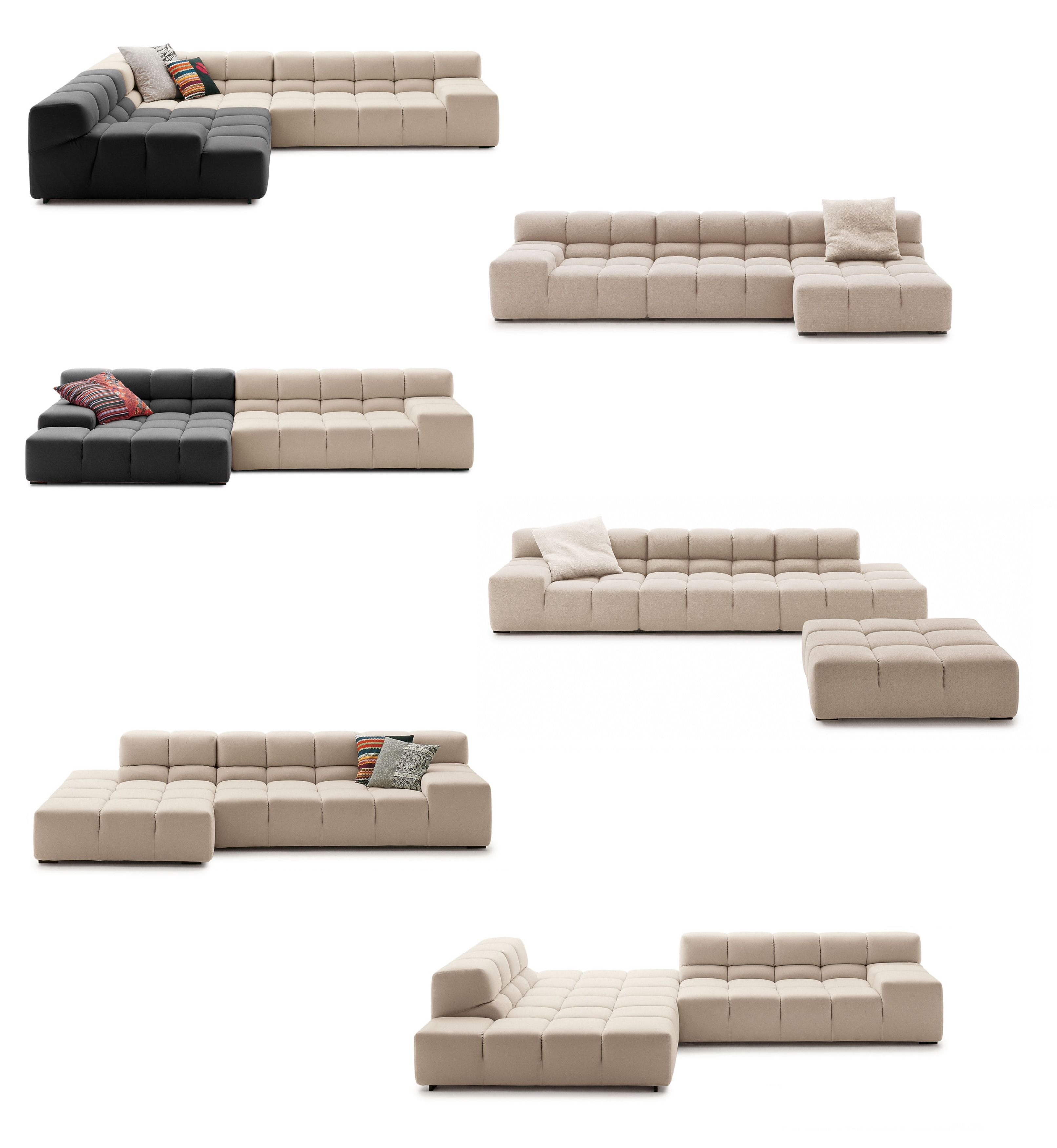 Tufty Time Collection System Modular Sofa Compositions B B Italia Design By Patricia Urquiola Sofa Furniture Modular Furniture Patricia Urquiola