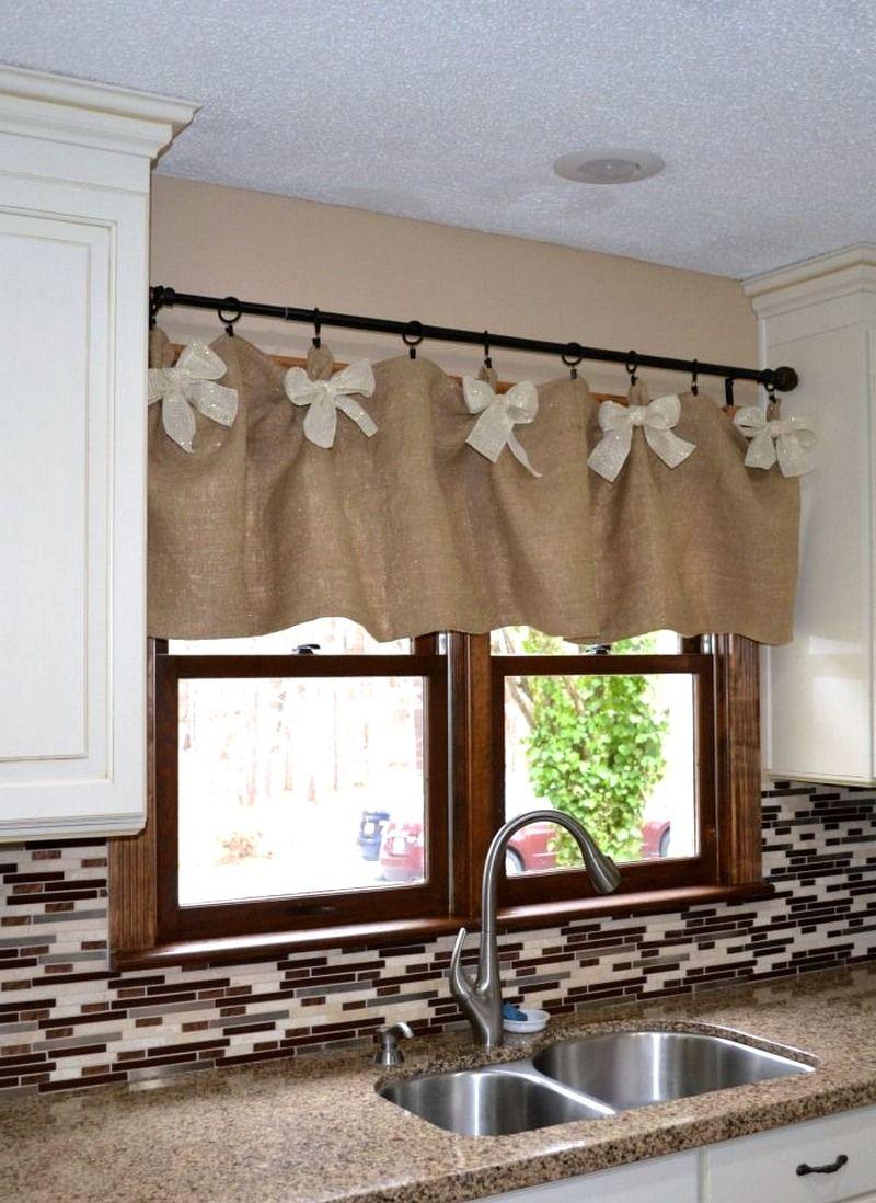 choosing the best farmhouse kitchen curtains kitchen window valances window valance diy on farmhouse kitchen valance ideas id=40392