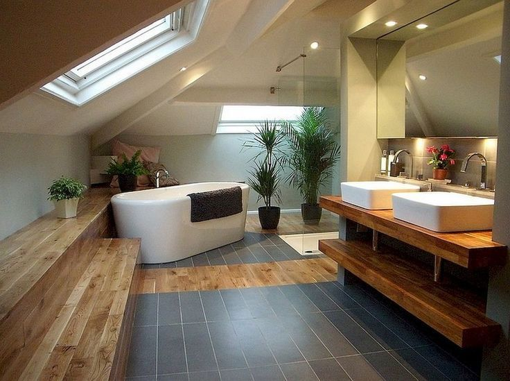 60 + bewundernswerte Dachstube Badezimmer Makeover Konzept-Ideen - # Bewundernswerte #Attic #Bathroom #balconyideas