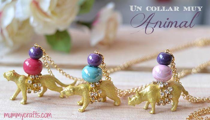 Collares con animales de plástico paso a paso---use google translate to read... Great, cute animal necklaces!
