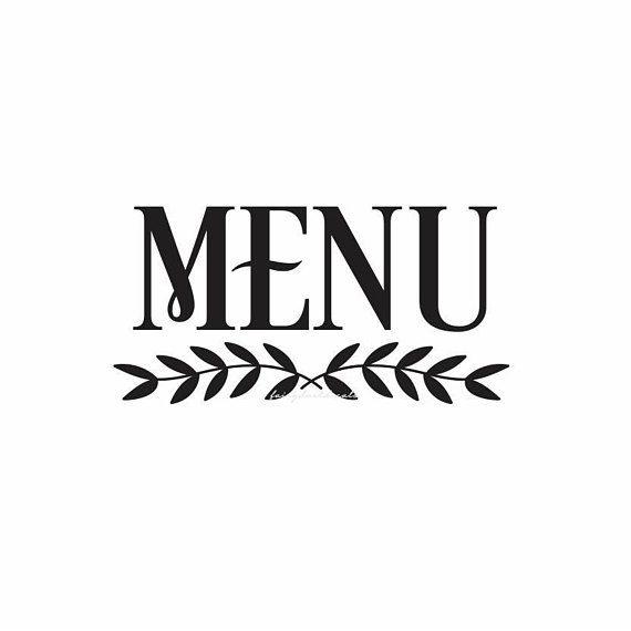 Menu decal make your own sign menu wedding sign decal chalkboard decal