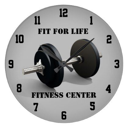 fitness workout wall clock  zazzle  home gifts