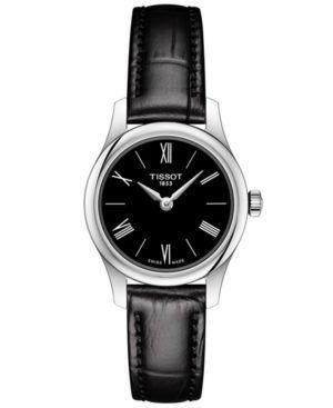 f10c5ed2c32 Tissot Women s Swiss T-Classic Tradition 5.5 Black Leather Strap Watch 25mm
