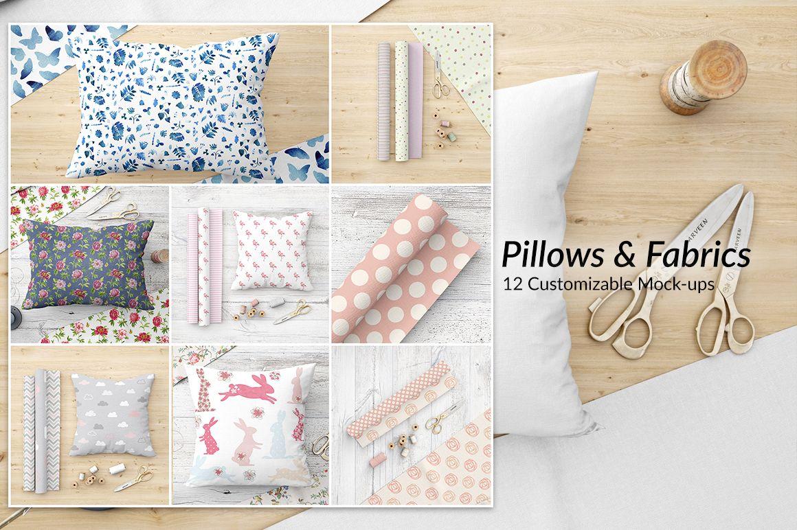 Throw Pillows Mockup Set Design Cuts