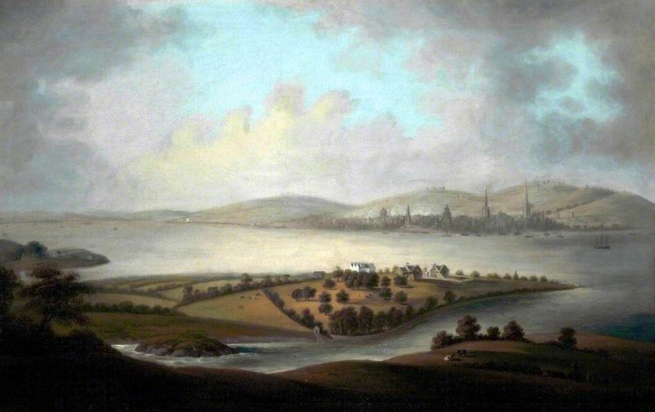 """Liverpool and Birkenhead"", 1767, by Charles Eyes (attributed to)"