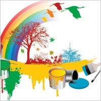 Vector Set Paint Bucket Paint Brush Stock Vector Royalty Free 699606343