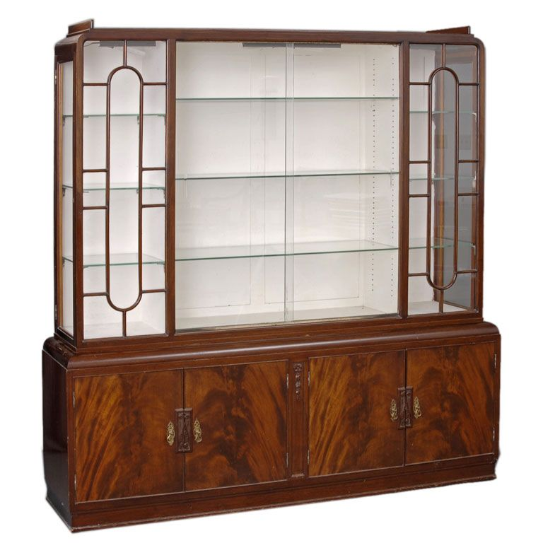 Cool Art Deco Kitchen Cabinets: English Art Deco Display Cabinet