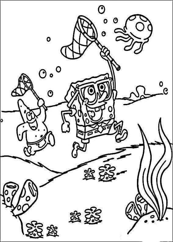 Gratis Kleurplaten Spongebob.Spongebob Kleurplaten 2 Kleurplaat Kleurplaten Spongebob En