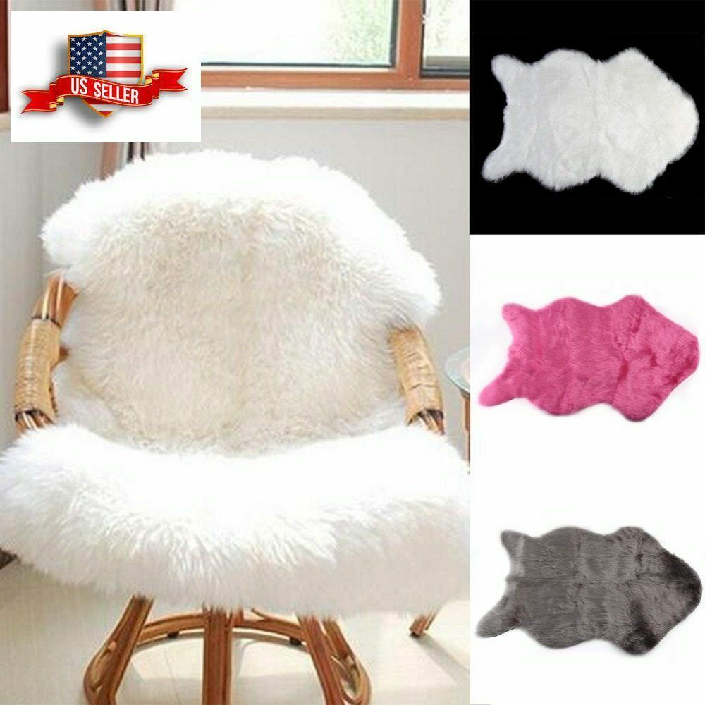Chair Cushion Faux Sheepskin Washable Carpet Warm Seat Pad Fluffy Rug Chair Pad Outad Fauxsheepskin Ebay Ebaystore Fluffy Rug Cushions On Sofa Soft Carpet