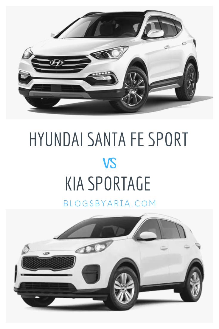 Hyundai Sante Fe Sport Vs Kia Sportage Blogs By Aria Kia Sportage Hyundai Santa Fe Sport Kia