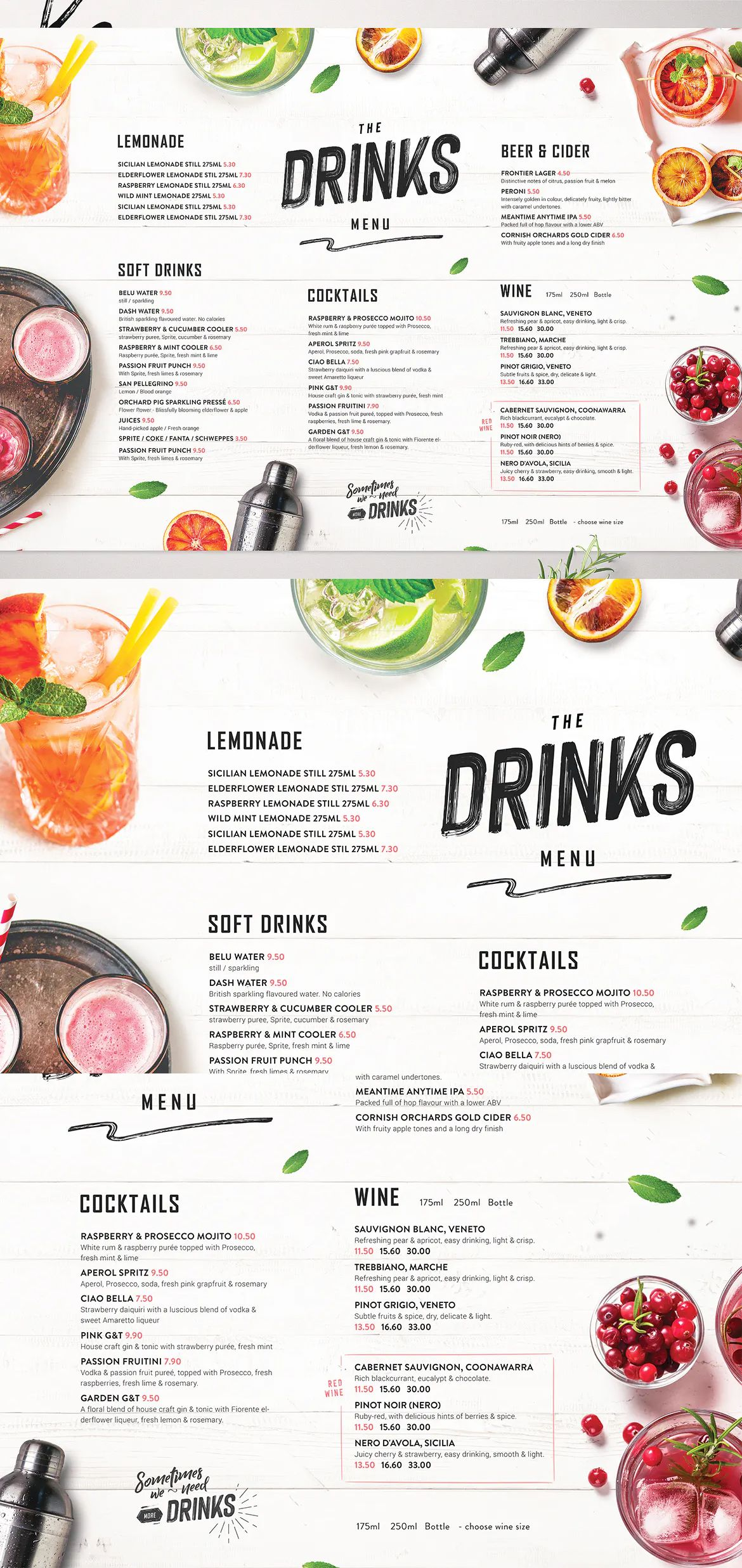 Drinks Menu By Dusskdesign On Drink Menu Food Menu Template